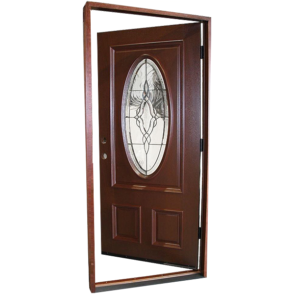 Solid mahogany type prefinished antique patina beveled - Prefinished mahogany interior doors ...